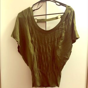 Bebe olive green shirt size small